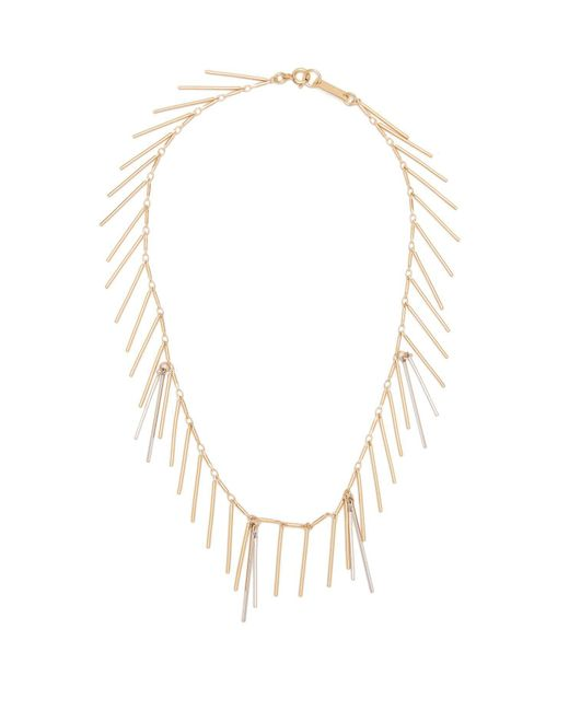 Isabel Marant - Metallic Asymmetrical Chain And Bar-pendant Necklace - Lyst