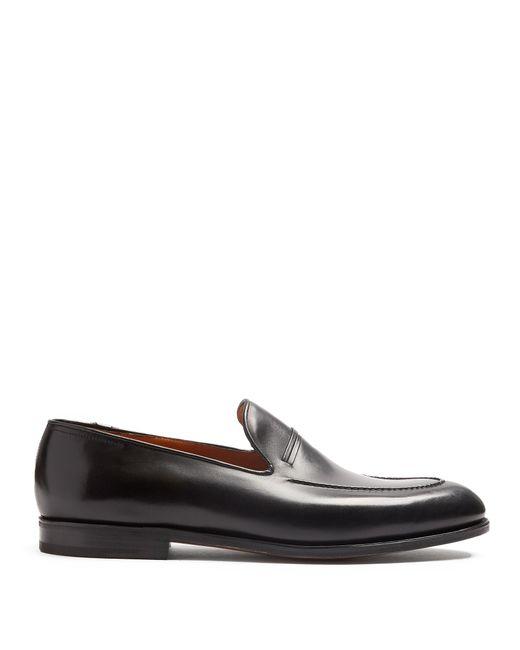 John Lobb | Black Amble Leather Loafer for Men | Lyst