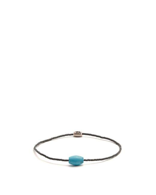 Luis Morais - Gray Horus Eye Beaded-bracelet for Men - Lyst
