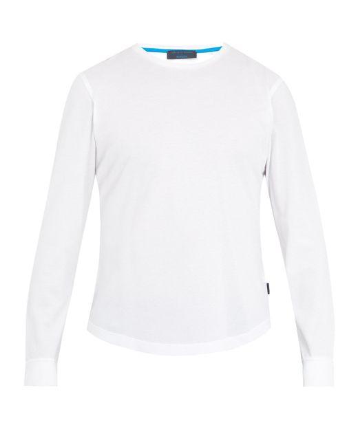 Orlebar Brown   White Leonardo Long-sleeved Cotton T-shirt for Men   Lyst