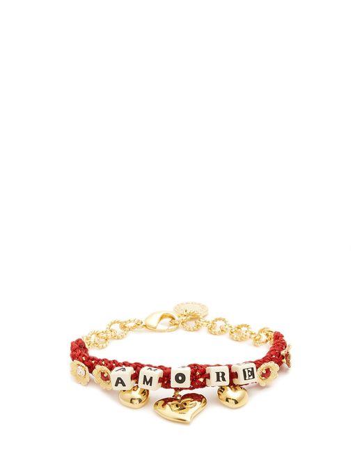 Dolce & Gabbana   Multicolor Amore-embellished Bracelet   Lyst