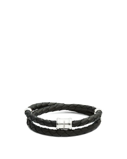 Miansai - Black Casing Braided Leather Bracelet for Men - Lyst