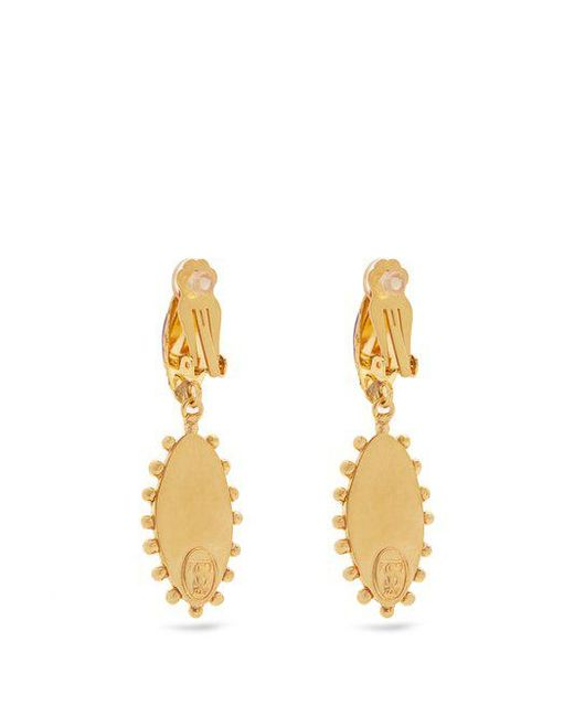 Sylvia Toledano Evil Eye gold-plated clip-on drop earrings EBqz6Ns