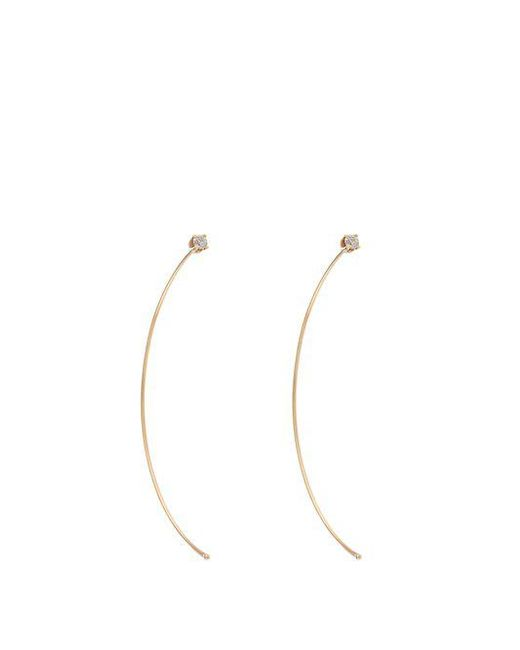 Loren Stewart - Metallic Diamond & Yellow-gold Earrings - Lyst