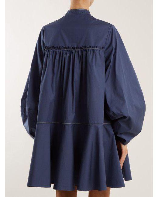 Soraya gathered cotton-sateen dress Roksanda Ilincic How Much For Sale Great Deals Sale Online 100% Guaranteed Online Really Online Ebay Online LA8a1