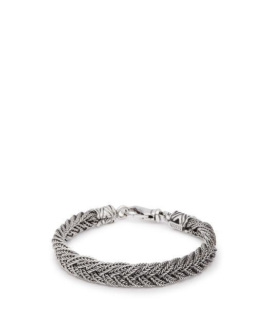 Emanuele Bicocchi - Metallic Braided Sterling Silver Bracelet for Men - Lyst
