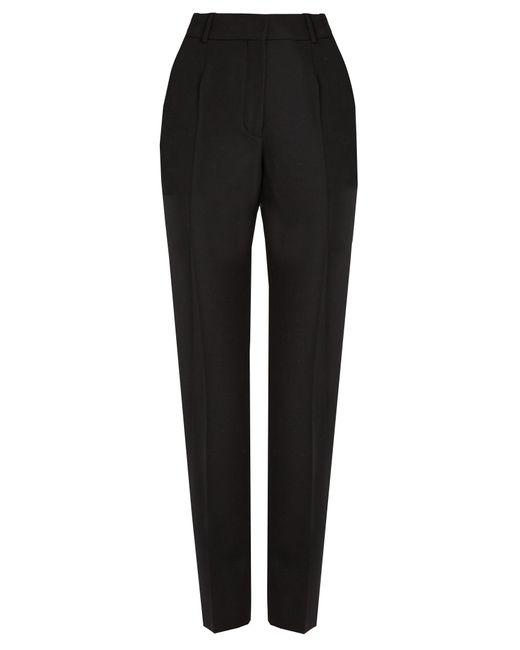 Balenciaga | Black Cigarette-leg Wool Trousers | Lyst