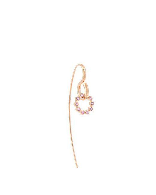 Charlotte Chesnais - Pink Swing Hook Sapphire, Amethyst & Gold Earring - Lyst