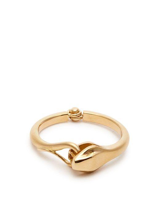 Marc Alary - Metallic Snake 18kt Gold Ring - Lyst