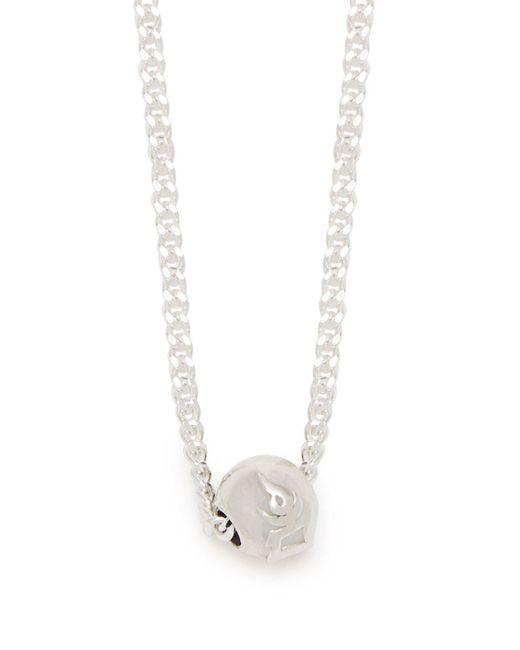 Black Dakini - Metallic Bead Embellished Sterling Silver Necklace for Men - Lyst