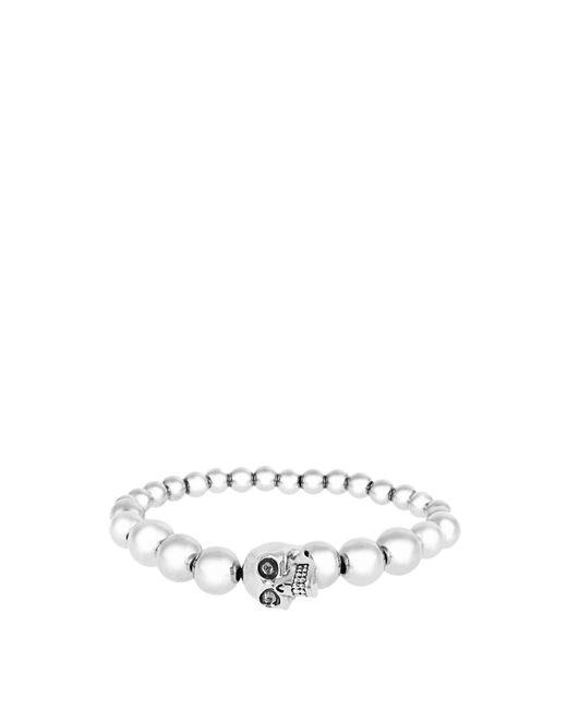 Alexander McQueen | Metallic Skull Beaded Bracelet | Lyst