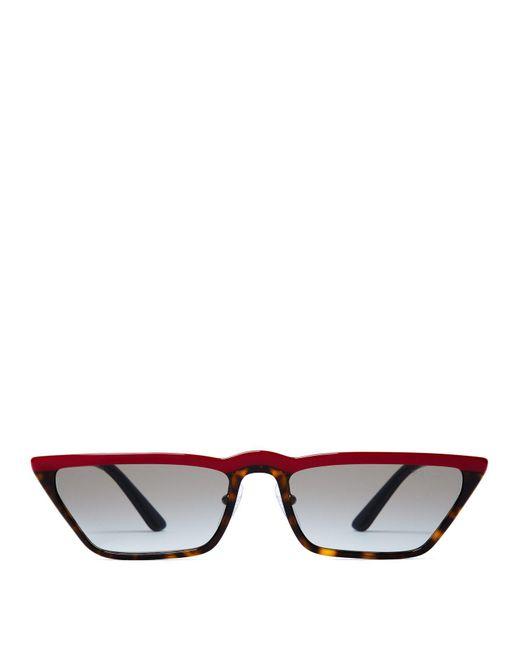Prada - Multicolor Cat Eye Acetate Sunglasses - Lyst