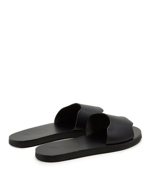 90b395842a2c ... Ancient Greek Sandals - Black Ios Leather Slides for Men - Lyst ...
