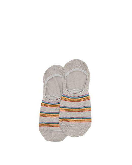 Paul Smith - Gray Artist Striped Cotton-blend Socks for Men - Lyst