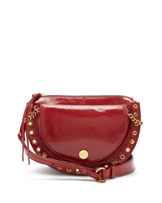 See By Chloé - Red Kriss Patent Leather Cross Body Bag - Lyst