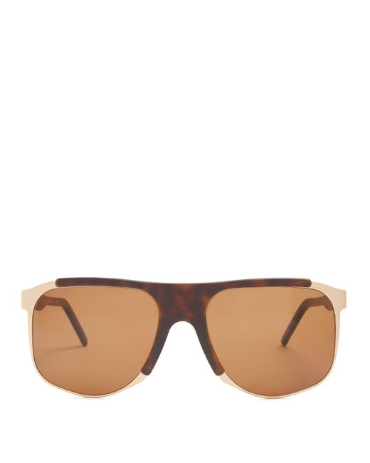 Andy Wolf - Brown Dimitri Square-frame Acetate Sunglasses for Men - Lyst