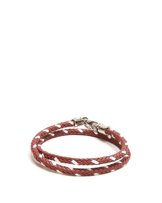 Tod's | Multicolor Mycolours Woven-leather Bracelet for Men | Lyst