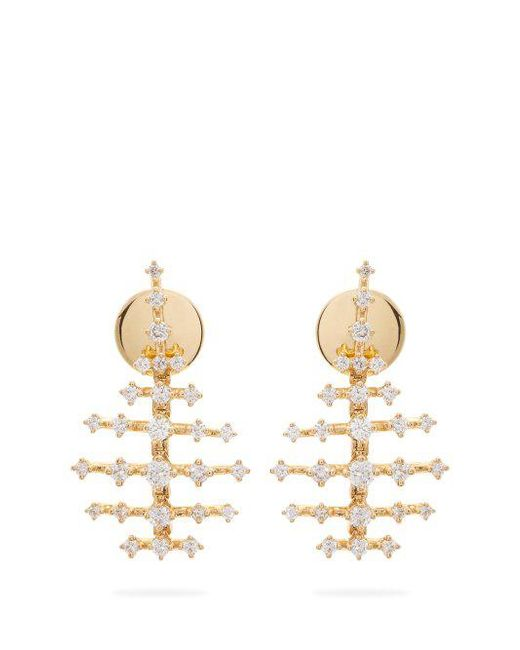 Fernando Jorge Mini Disco 18kt gold & diamond earrings 1HdcC3QAPD