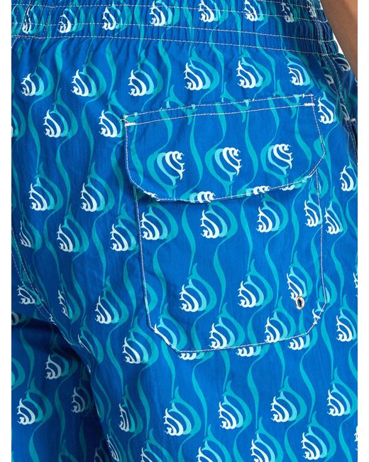 ecb1f5b733 ... Le Sirenuse - Blue Snail Print Swim Shorts for Men - Lyst
