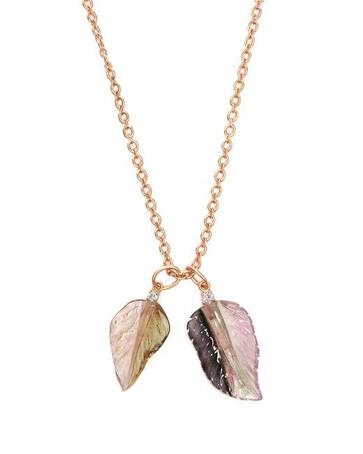 Irene Neuwirth - Pink Diamond, Tourmaline & Rose-gold Necklace - Lyst