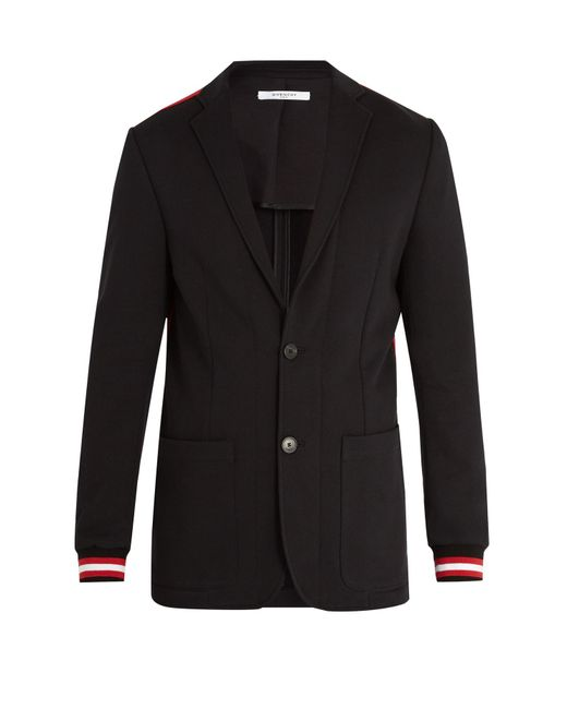 Givenchy - Black Ribbed-cuff Single-breasted Blazer for Men - Lyst