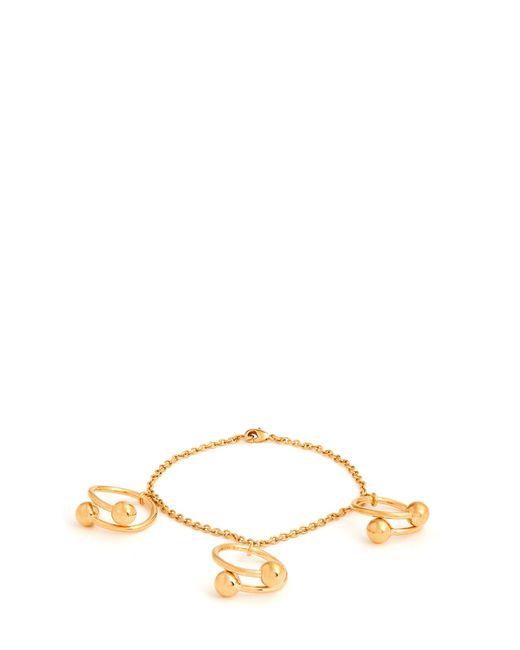 J.W. Anderson | Metallic Double-sphere Gold-plated Bracelet | Lyst