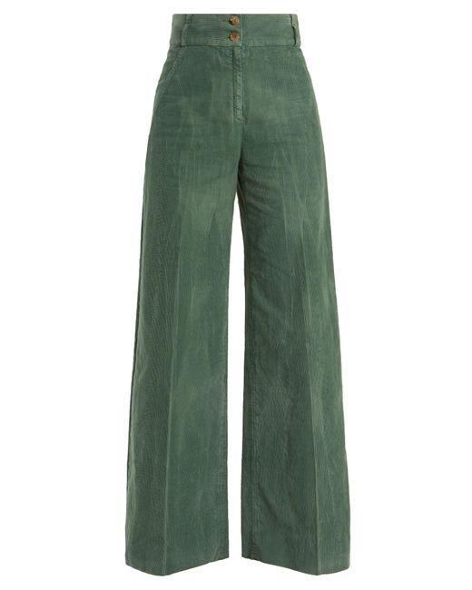 Gucci | Green Wide-leg Cotton-blend Corduroy Trousers | Lyst
