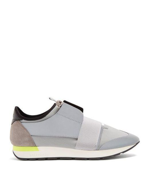 fa48bed35759 Balenciaga - Gray Race Runner Trainers for Men - Lyst ...