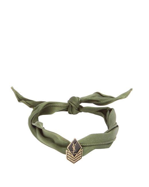 Saint Laurent   Multicolor Wraparound Silk Bracelet for Men   Lyst