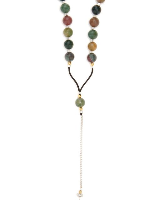 Black Dakini - Metallic Moss Agate And Cord Necklace for Men - Lyst