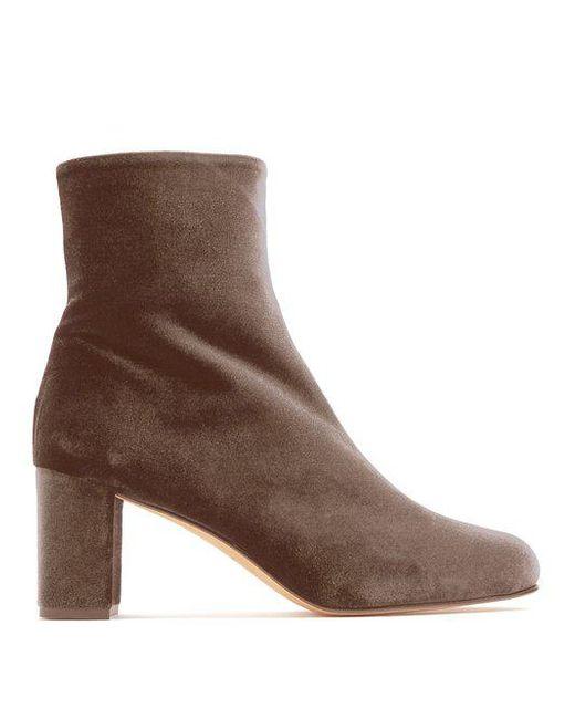 Outlet Visit MARYAM NASSIR ZADEH Velvet Ankle Boots Clearance Perfect KgdHJ