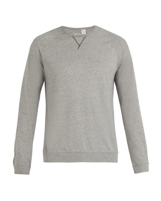 Paul Smith - Gray Crew Neck Cotton Jersey Pyjama Top for Men - Lyst