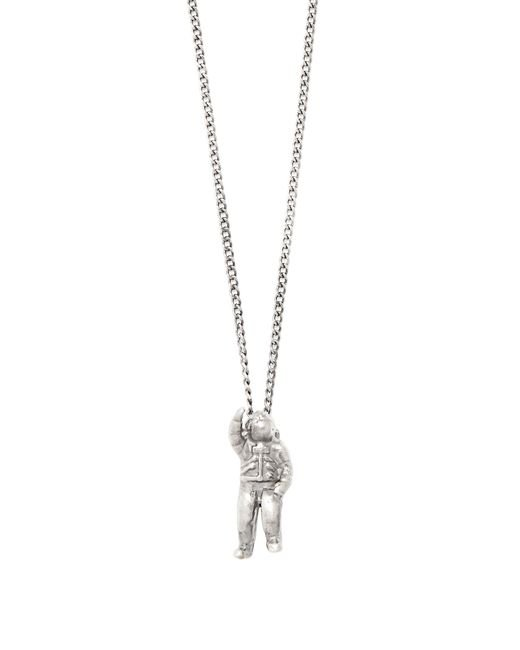 Title Of Work   Metallic Astronaut Sterling-silver Necklace for Men   Lyst