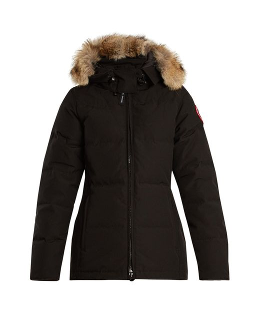 Canada Goose | Black Chelsea Fur-trimmed Down Jacket | Lyst