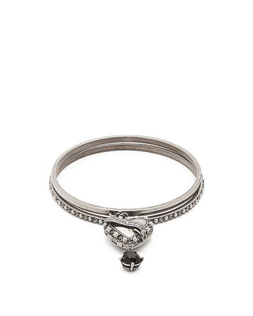 Alexander McQueen | Metallic Faux Pearl-embellished Heart-drop Bracelet | Lyst