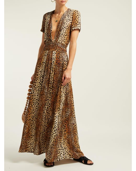 3eeaa6103d1 ... Melissa Odabash - Brown Lou Cheetah Print Maxi Dress - Lyst ...