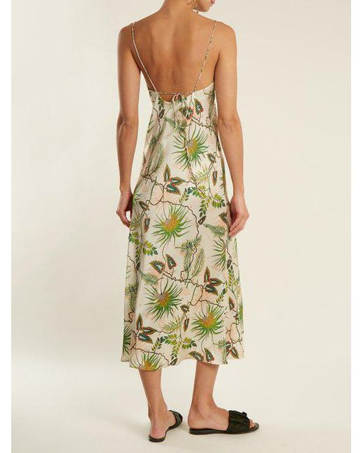 Jadi tropical-print stretch-silk slip dress Adriana Iglesias Sale Deals Excellent Cheap Online Cheap Sale Cheap Sale How Much kVw6z9mEc
