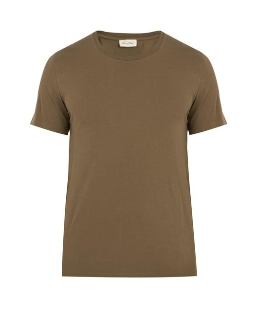 American Vintage - Green Denver Crew-neck Cotton T-shirt for Men - Lyst