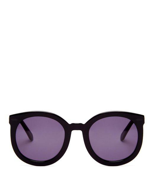 Karen Walker - Black Super Duper Strength Acetate Sunglasses - Lyst