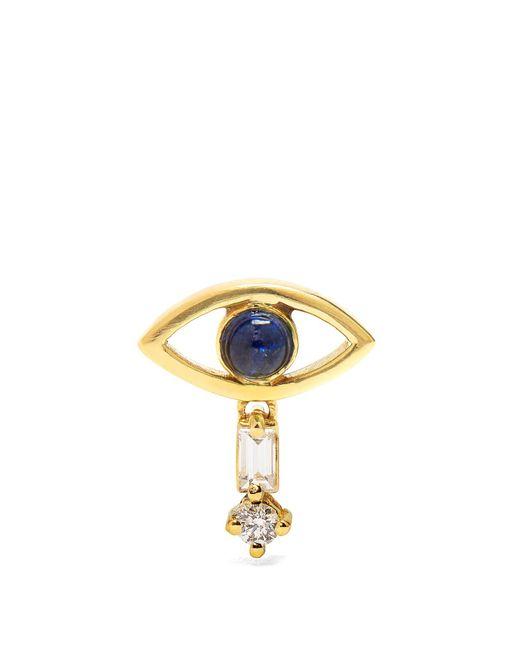 Ileana Makri | Metallic Diamond, Sapphire & Yellow-gold Earring | Lyst