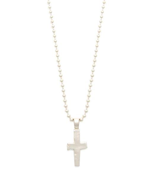 Aris Schwabe - Metallic Cross Pendant Sterling Silver Necklace for Men - Lyst