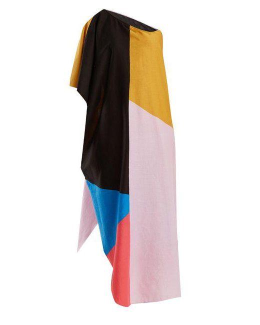 Mara Hoffman - Multicolor - Noa Chapiteau Print One Shoulder Cotton Dress - Womens - Blue Multi - Lyst