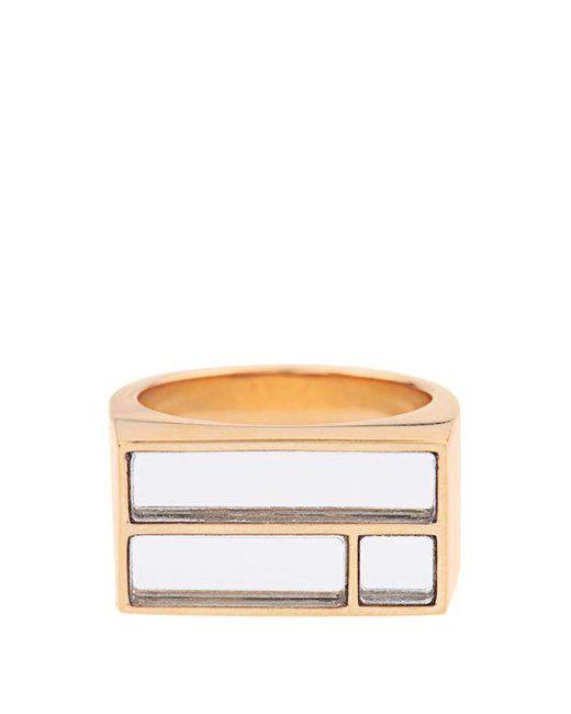 Aurelie Bidermann - Metallic Bianca Yellow Gold-plated Mirror Ring - Lyst