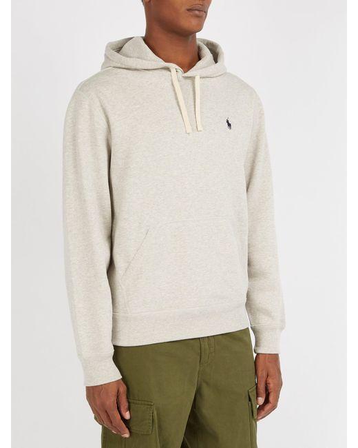 eb174b96c0e9 ... Polo Ralph Lauren - Gray Fleece Back Cotton Jersey Hooded Sweatshirt  for Men - Lyst ...