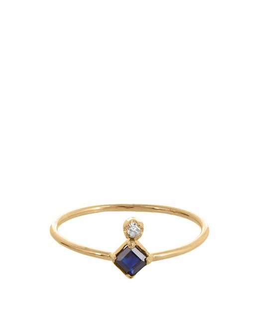 Loren Stewart | Blue Diamond, Sapphire & Yellow-gold Ring | Lyst