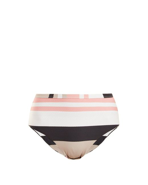 Asceno - Multicolor High-rise Striped Bikini Briefs - Lyst