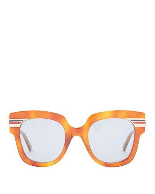 Web-striped cat-eye sunglasses Gucci AGGSCO