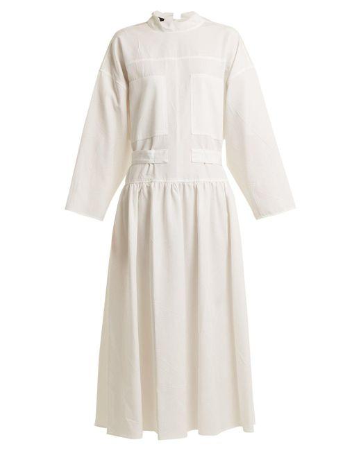 Joseph - White Camille Tie-waist Dress - Lyst