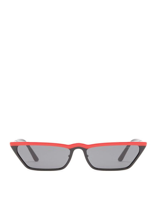 Prada - Black Cat Eye Acetate Sunglasses - Lyst