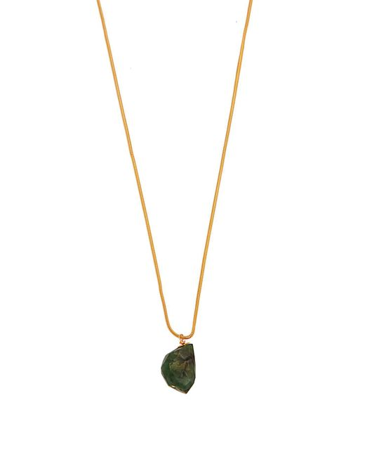 Elise Tsikis - Green Loreto Gold-plated Emerald Stone Necklace - Lyst